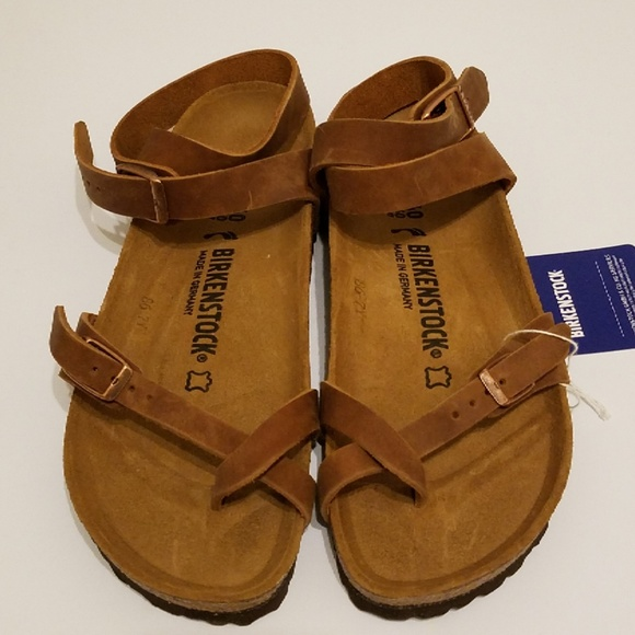 bbc6b56953c8 New Birkenstock Yara Antique Brown Leather 40